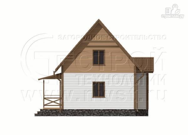 Фото 9: проект дачный дом 6х8 м полтора этажа с крыльцом