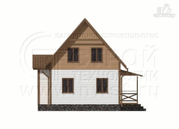 Фото 7: проект дачный дом 6х8 м полтора этажа с крыльцом