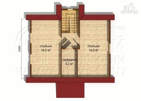 Фото 5: проект дачный дом 6х8 м полтора этажа с крыльцом
