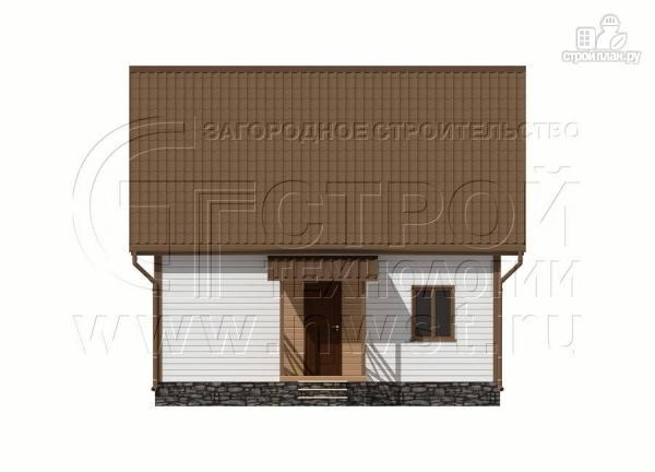 Фото 8: проект дачный дом 6х8 м полтора этажа с крыльцом