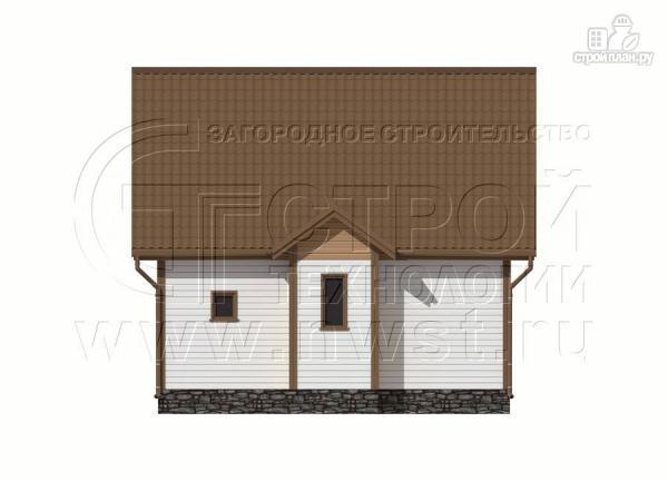 Фото 10: проект дачный дом 6х8 м полтора этажа с крыльцом