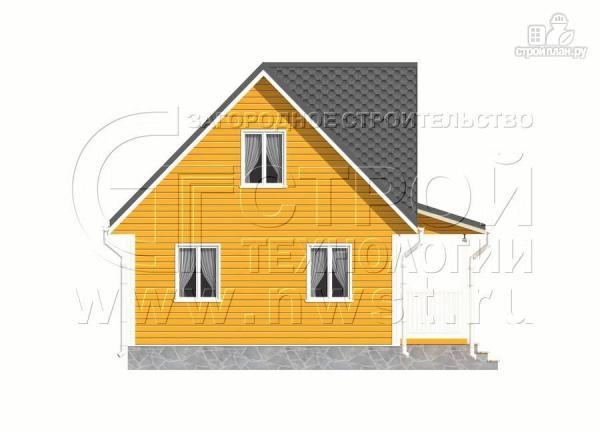 Фото 10: проект дачный дом 6х9 м с мансардным этажом, лоджией