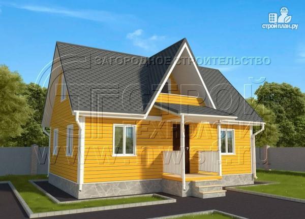 Фото: проект дачный дом 6х9 м с мансардным этажом, лоджией