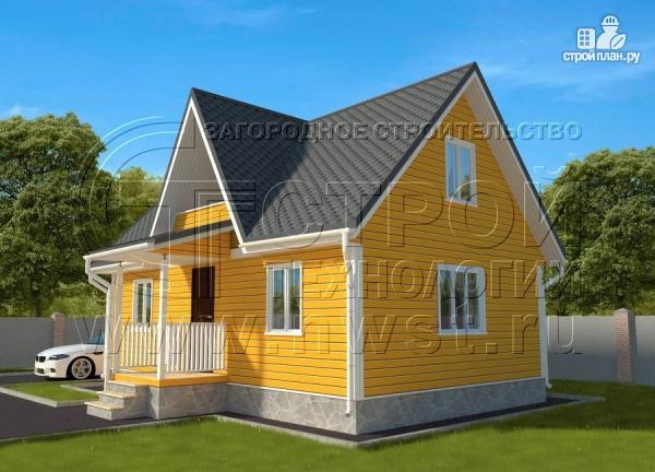 Фото 3: проект дачный дом 6х9 м с мансардным этажом, лоджией