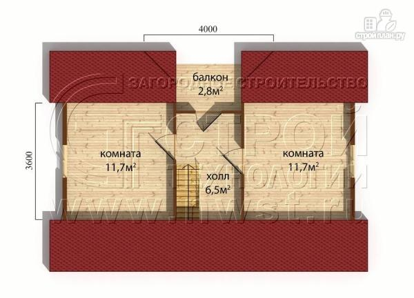 Фото 6: проект дачный дом 6х9 м с мансардным этажом, лоджией