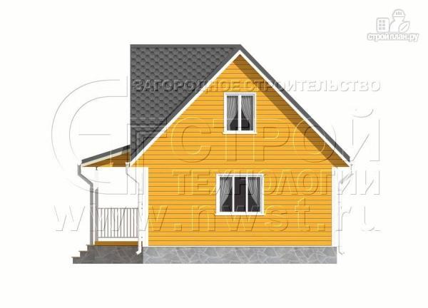 Фото 8: проект дачный дом 6х9 м с мансардным этажом, лоджией