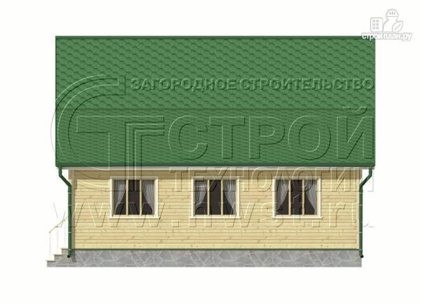 Фото 8: проект дачный дом 6х9 м с верандой