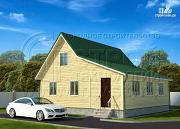 Проект дачный дом 6х9 м с верандой