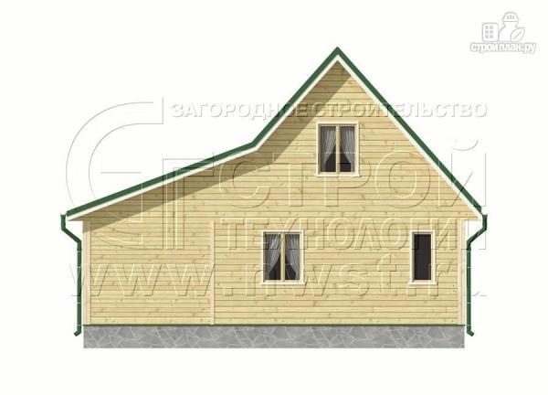 Фото 9: проект дачный дом 6х9 м с верандой