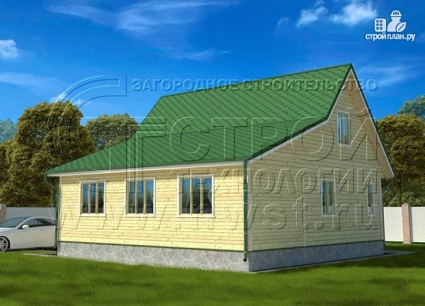 Фото 2: проект дачный дом 6х9 м с верандой