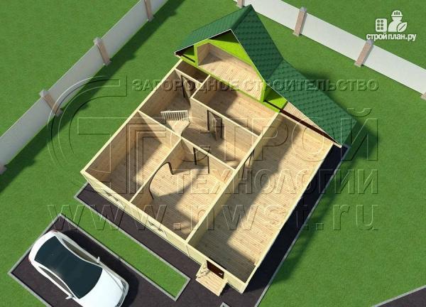 Фото 4: проект дачный дом 6х9 м с верандой