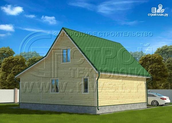 Фото 3: проект дачный дом 6х9 м с верандой