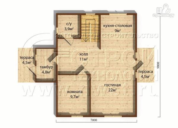 Фото 5: проект загородныйдом 7х9 м полтора этажа с балконом