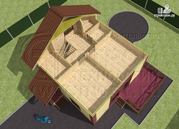 Фото 5: проект деревянный загородный дом с террасой