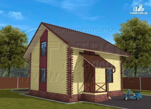 Фото 3: проект деревянный загородный дом с террасой