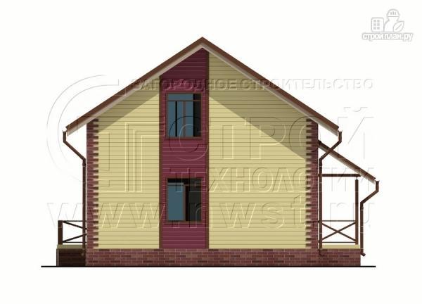Фото 10: проект деревянный загородный дом с террасой