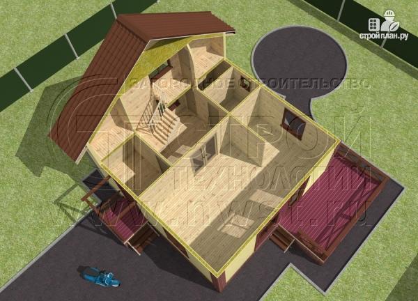 Фото 4: проект деревянный загородный дом с террасой