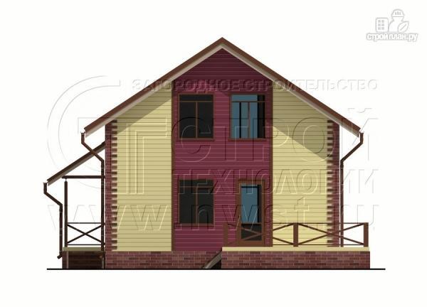 Фото 8: проект деревянный загородный дом с террасой