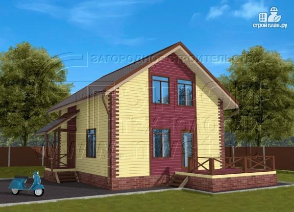 Фото 2: проект деревянный загородный дом с террасой