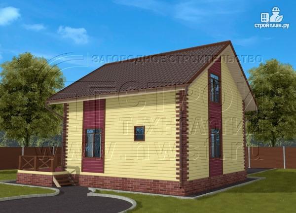 Фото: проект деревянный загородный дом с террасой