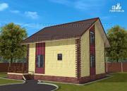 Фото: деревянный загородный дом с террасой