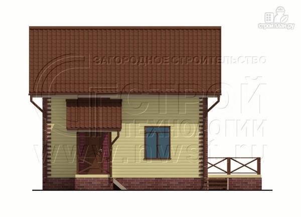 Фото 11: проект деревянный загородный дом с террасой