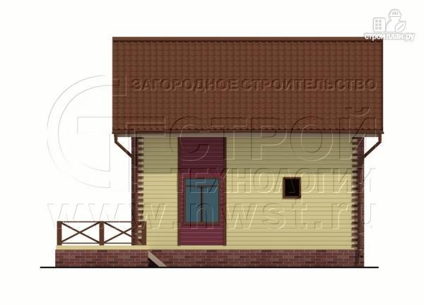 Фото 9: проект деревянный загородный дом с террасой