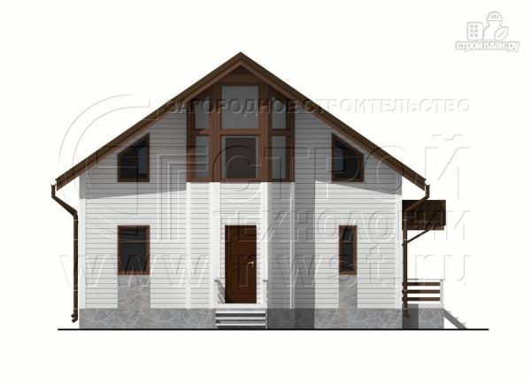 Фото 8: проект загородный дом 7х9 м с мансардой и лоджией в эркере