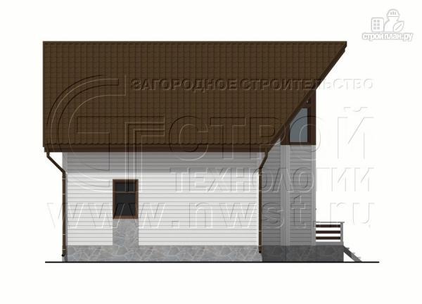 Фото 11: проект загородный дом 7х9 м с мансардой и лоджией в эркере