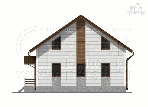 Фото 10: проект загородный дом 7х9 м с мансардой и лоджией в эркере