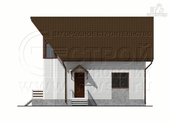 Фото 9: проект загородный дом 7х9 м с мансардой и лоджией в эркере