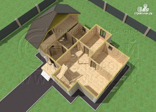 Фото 5: проект полутораэтажный коттедж 11х7 м