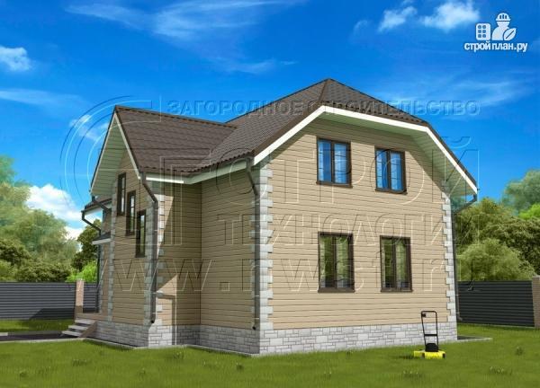 Фото 2: проект полутораэтажный коттедж 11х7 м