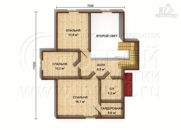 Фото 7: проект полутораэтажный коттедж 11х7 м