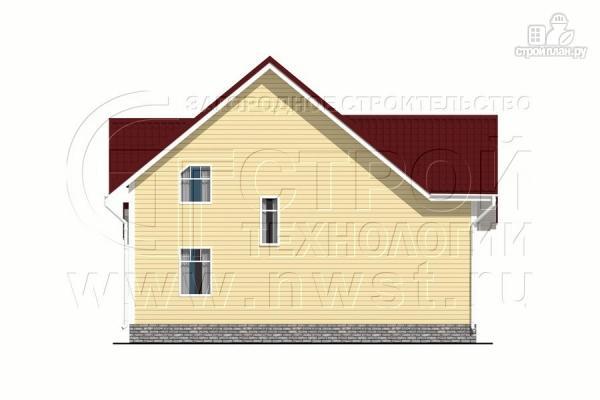Фото 11: проект загородный дом 8,5х8,5 м с длинной террасой