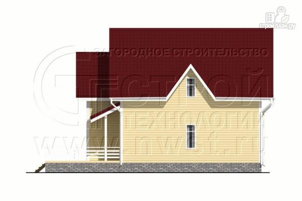 Фото 10: проект загородный дом 8,5х8,5 м с длинной террасой