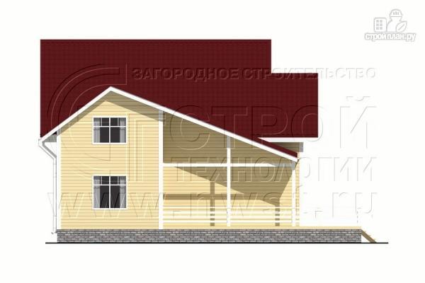 Фото 8: проект загородный дом 8,5х8,5 м с длинной террасой