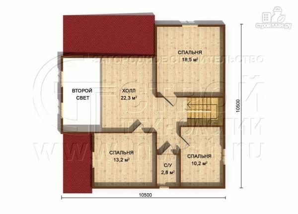 Фото 7: проект загородный дом 8,5х8,5 м с длинной террасой