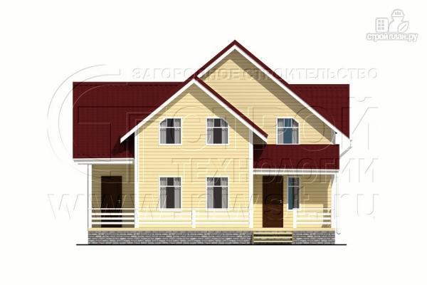 Фото 9: проект загородный дом 8,5х8,5 м с длинной террасой