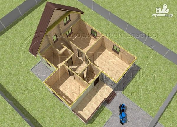 Фото 4: проект загородный дом 7х7 м с мансардой и террасой