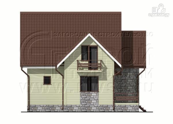 Фото 9: проект загородный дом 7х7 м с мансардой и террасой