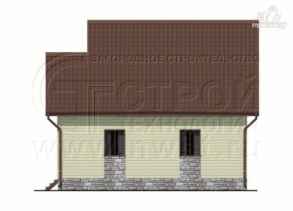 Фото 11: проект загородный дом 7х7 м с мансардой и террасой