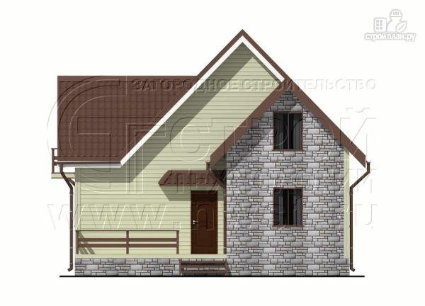Фото 10: проект загородный дом 7х7 м с мансардой и террасой