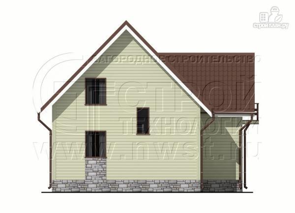Фото 8: проект загородный дом 7х7 м с мансардой и террасой