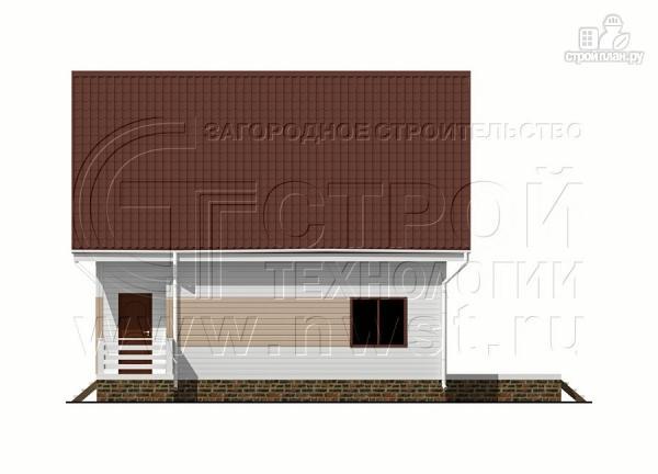 Фото 8: проект загородный дом 8х9 м с мансардой и террасой