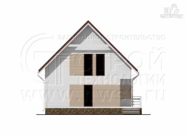 Фото 11: проект загородный дом 8х9 м с мансардой и террасой