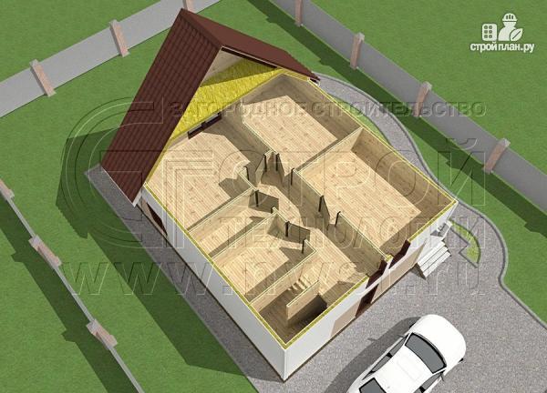Фото 4: проект загородный дом 8х9 м с мансардой и террасой