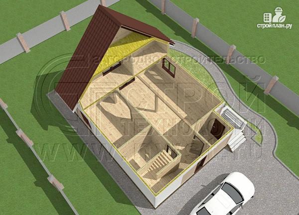 Фото 5: проект загородный дом 8х9 м с мансардой и террасой