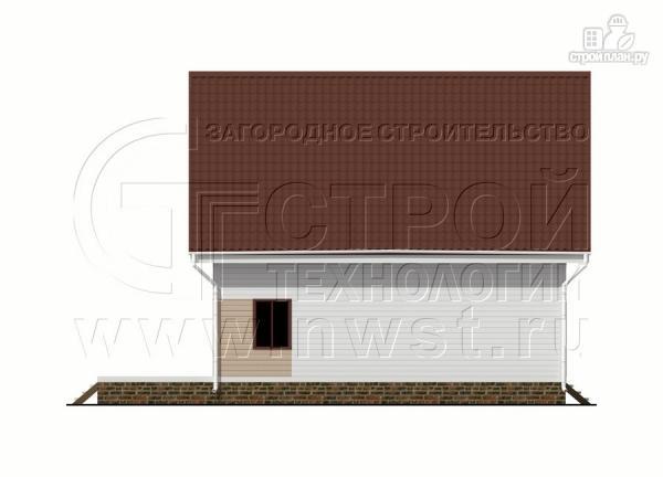 Фото 10: проект загородный дом 8х9 м с мансардой и террасой