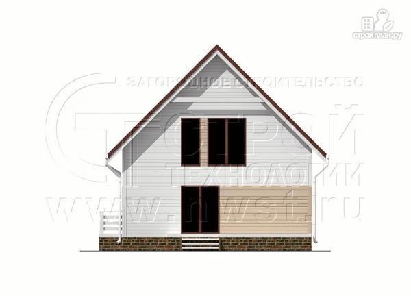 Фото 9: проект загородный дом 8х9 м с мансардой и террасой